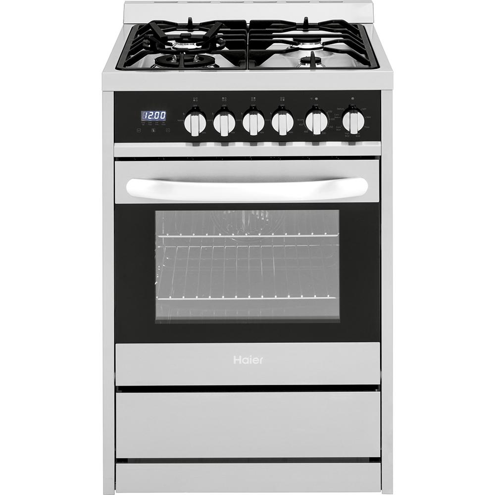 Cuisinière non encastrée biénergie Haier de 24 po, 2.0 pi³, en acier inoxydable