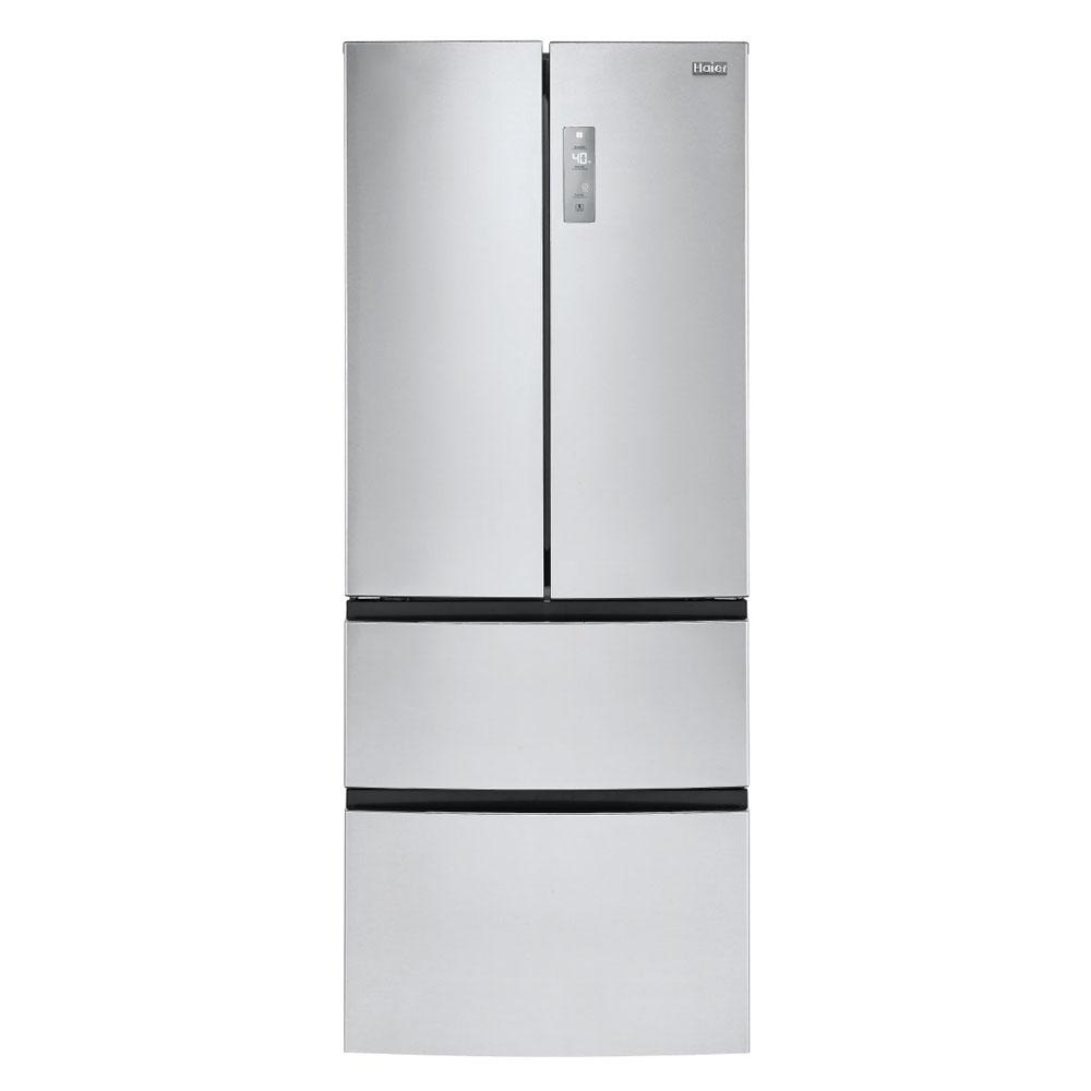 Haier réfrigérateur 14.9 portes à congélateur inférieur et porte à deux battants de 4 piXNUMX en acier inoxydable